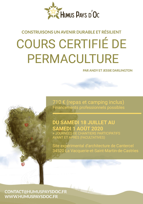Cours certifié de permaculture 2020