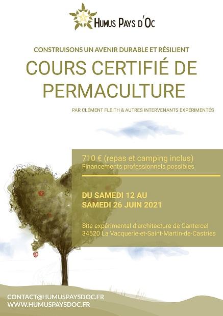 cours certifié permaculture